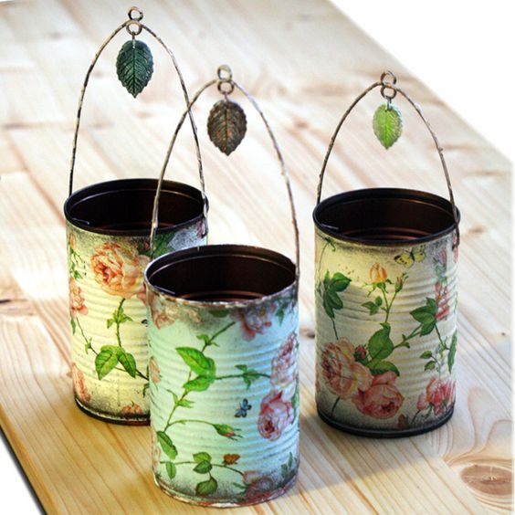 decoupage-tin-can-planters-2