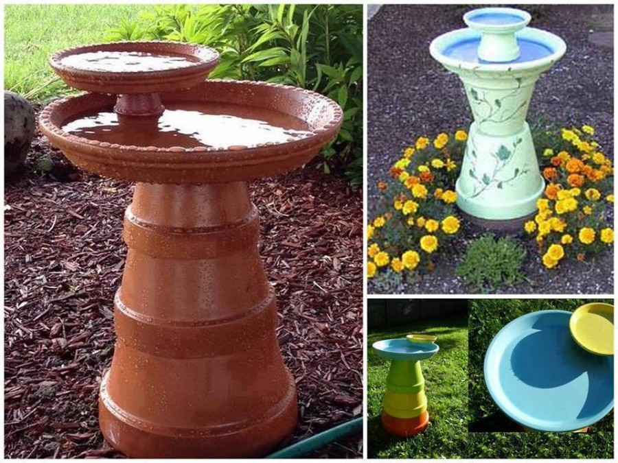 10 Beautiful DIY Bird Bath Ideas