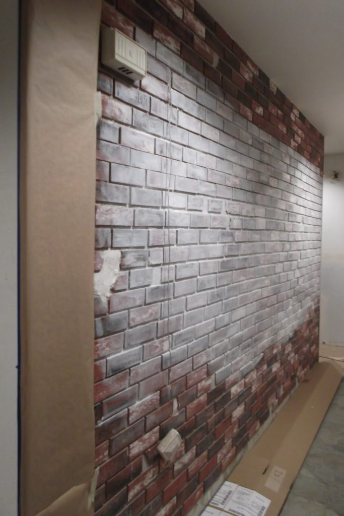 top diy brick walls the shabby tint of the brick. Black Bedroom Furniture Sets. Home Design Ideas