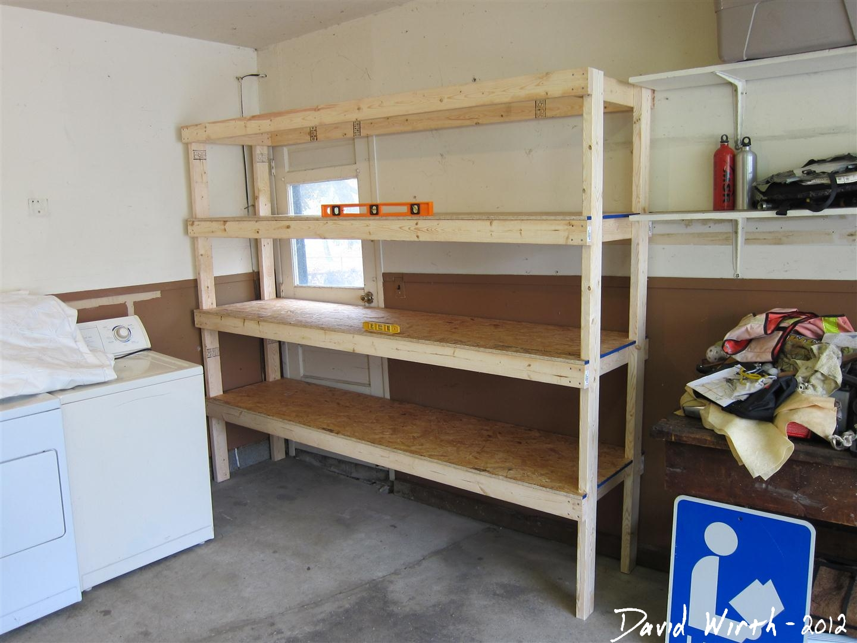 Diy garage shelves for your inspiration just craft diy for Easy wood shelves