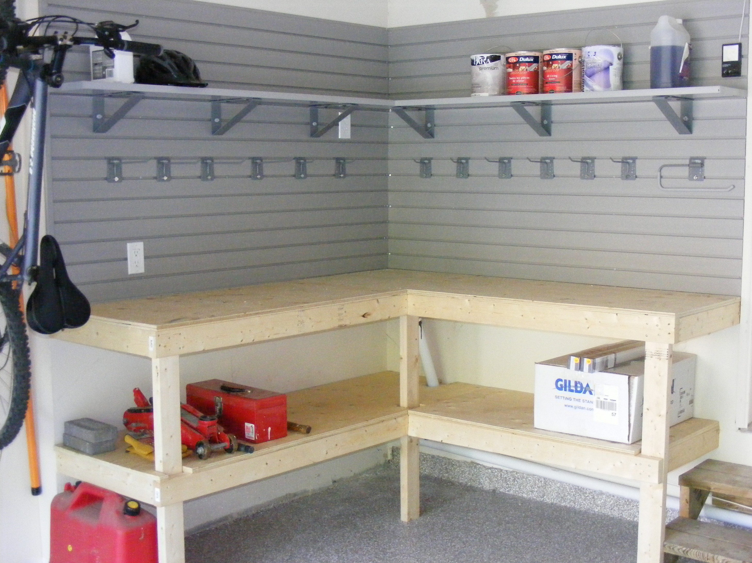 Diy Garage Shelves For Your Inspiration Just Craft Diy Projects
