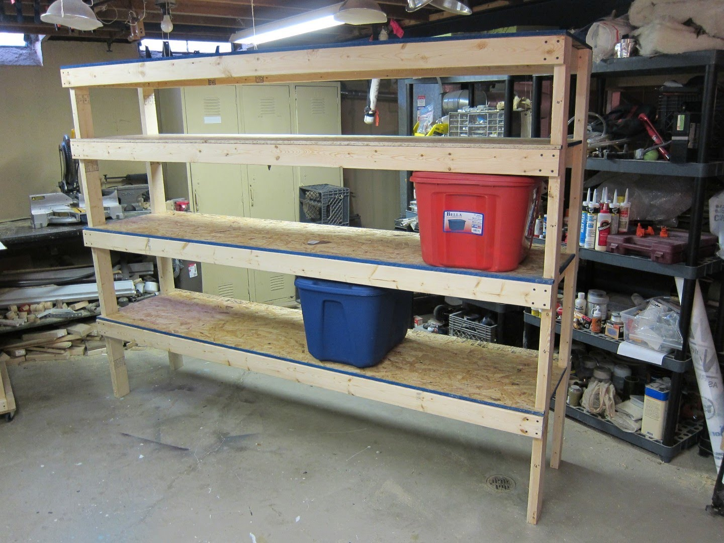 Diy garage shelves for your inspiration just craft diy projects - Space saving garage shelves ideas must have ...